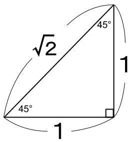 高校数学無料学習サイトko-su- 三角比 45°